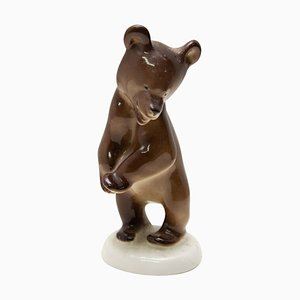 Sowjetische Keramikskulptur eines Bären, 1970er