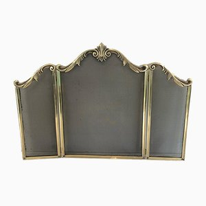 Louis the 15th Style Bronze Fireplace Screen, France, 1920s