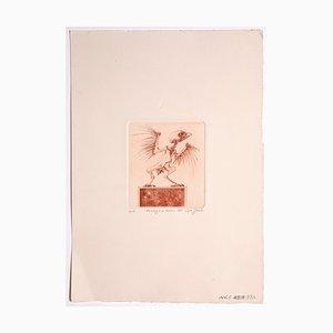 Leo Guide, Cuckoo, Sanguine Radierung, 1971