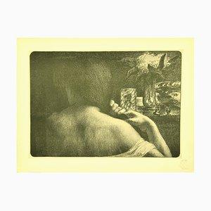 Jules Flandrin, The Hair, Lithograph, 1898