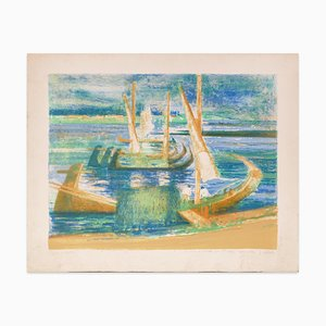 Paul Colomb, Souvenir from Portugal, Lithograph, Late 20th Century