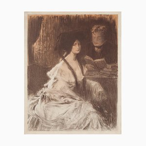 Charles Lucien Léandre, Young Woman, Lithograph, 1903