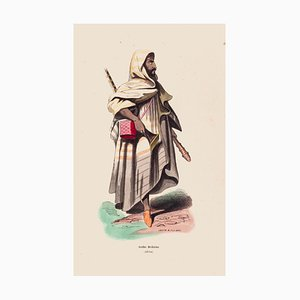 Lacoste Jean Luis - Arab Man - Original Lithograph - 1854