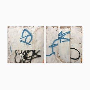 English Broken 1&2, Abstract Painting, 2020