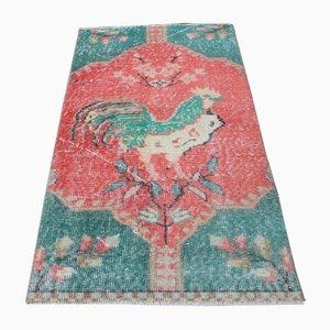 2x4 Vintage Turkish Oushak Handmade Rug Mini Carpet