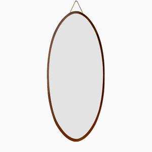 Italienischer Ovaler Mahagoni Spiegel von Campo e Graffi, 1970er