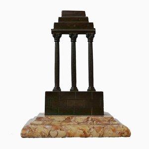 Antique Bronze & Marble Grand Tour Model of a Temple, 1800s