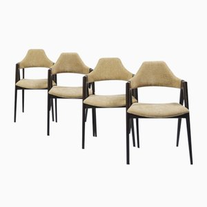 Compass Dining Chairs by Kai Kristiansen for SVA Møbler, 1960s, Set of 4