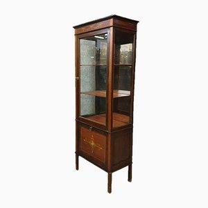 Napoleon III Mahogany Bookcase / Cabinet with Precious Wood Inlay