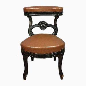 Napoleon III Blackened Pearwood Smoker's Chair, Circa 1850