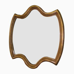 Specchio piccolo vintage in legno