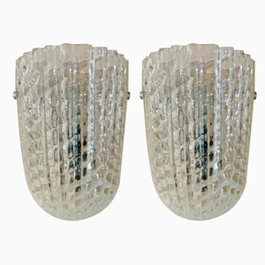 Italian Murano Glass Sconces, 1930s, Set of 2