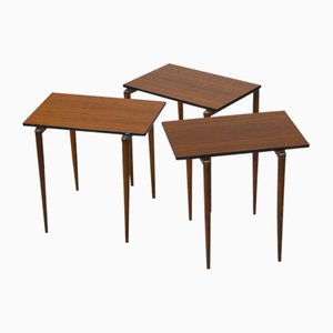 Modular Nesting Tables from Opal Möbel, 1950s, Set of 3