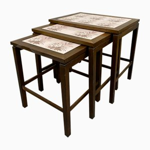 Tables Gigognes avec Carreaux, Danemark, 1960s, Set de 3