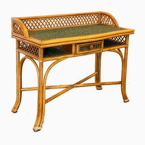 Vintage Wicker & Bamboo Desk, 1980s