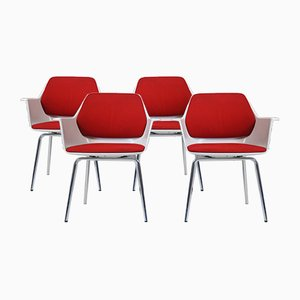 Model 240-5 Armchairs by Georg Leowald for Wilkhahn, 1960s, Set of 4