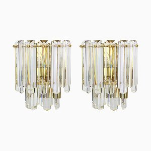 Large Austrian Crystal Glass Sconces from Kalmar, 1970s, Set of 2