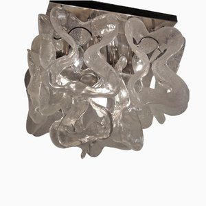 Murano Ice Glass Ceiling Light, 1970