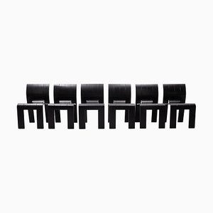 Dutch Strip Chairs & Table by Gijs Bakker for Castelijn, 1974, Set of 7