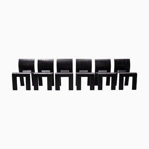Niederländische Strip Stühle & Tisch von Gijs Bakker für Castelijn, 1974, 7er Set