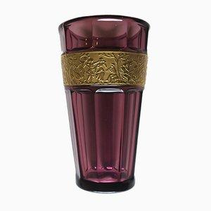 Vintage Violet Glass Vase by Josef Hoffmann for Moser