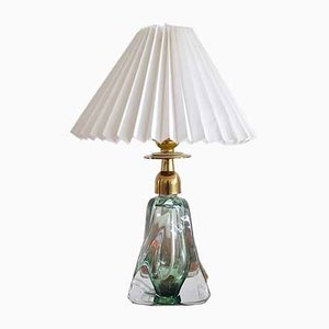 Mid-Century Belgium Crytal Glass Table Lamp from Val Saint Lambert, 1960