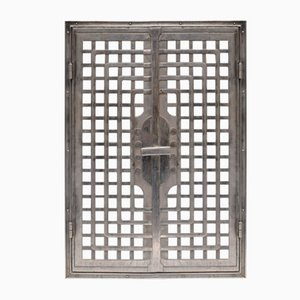 Antique Cast Iron Door by Otto Wagner
