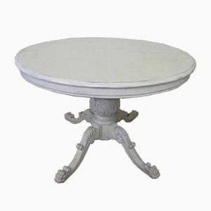 Rustic Provencal Round Extendable Dining Table, 1970s