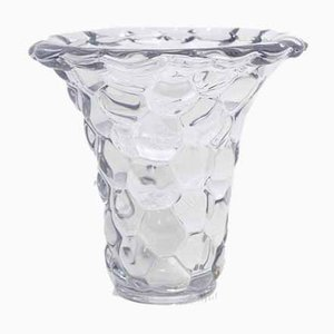 French Crystal Vase from P.D'Avesn, 1940s