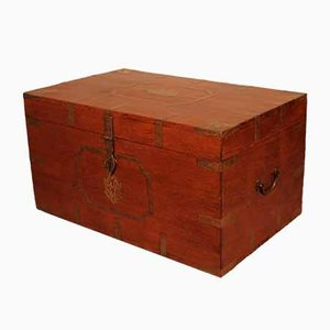 Large Mahogany Campaign Chest, 1800s