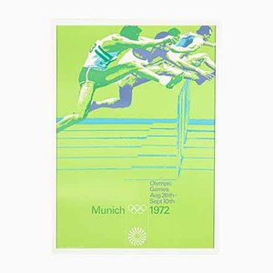 Hurdle Race Poster by Otl Aicher, 1970s