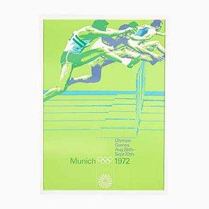 Hurdle Race Poster von Otl Aicher, 1970er