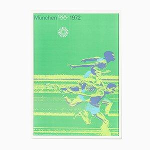100 Meter Run Poster von Otl Aicher, 1970er