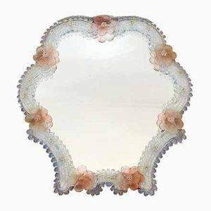 Italienischer Mid-Century Murano Glas Spiegel