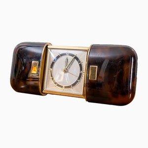Art Deco Faux Tortoiseshell Travel Clock from Wuba, 1930s