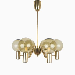 Swedish Patricia T372/6 Chandelier by Hans-Agne Jakobsson for Hans-Agne Jakobsson AB Markaryd, 1950s
