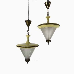 Mid-Century Italian Ceiling Lamps from Lumi, 1950s, Set of 2