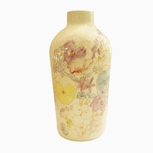 Floral Ceramic Vase from Ernestine Salerno, 1950s