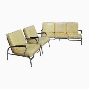 Mid-Century Chrom Wohnzimmer Set von Chromcraft, 1950er, Set of 3
