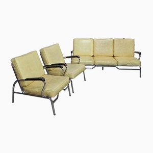 Mid-Century Chrome Living Room Set by Chromcraft, 1950s, Set of 3