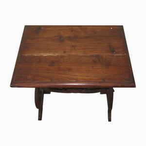 Small Chestnut Lyre Coffee Table, 1970s