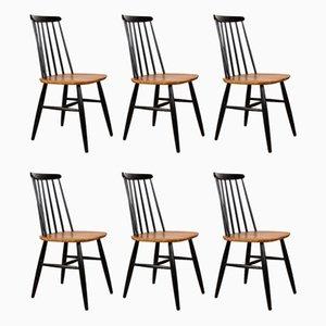 Swedish Teak & Stained Beech Nesto Dining Chairs from Nässjö Stolfabrik, 1960s, Set of 6