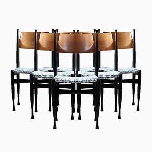 Mid-Century Reupholstered Dining Chairs from Jasen Drvni Kombinat Kraljevo, Set of 6