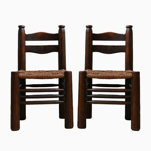 Vintage French Chairs by Charles Dudouyt, Set of 2
