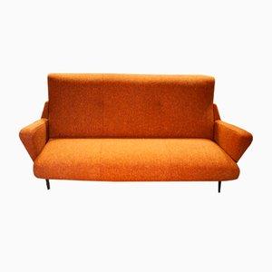 Vintage Italian Orange Sofa, 1950s