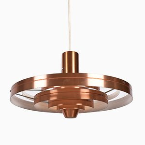 Mid-Century Danish Copper Fibonacci Ceiling Lamp by Sophus Frandsen for Fog & Mørup, 1960s