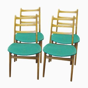 Mid-Century Holz Esszimmerstühle von Casala Modell, 4er Set
