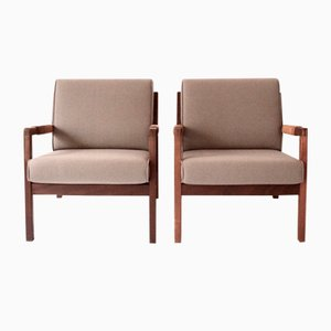 Finnish Rialto Lounge Chairs by Carl Gustaf Hiort af Ornäs for Puun Veisto, 1950s, Set of 2