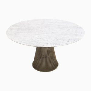 Marble & Wire Dining Table by Warren Platner for Knoll Inc. / Knoll International, 1990s