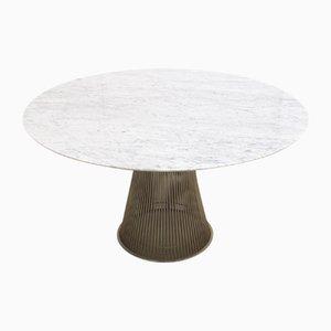 Tavolo da pranzo in marmo e cavo di Warren Platner per Knoll Inc. / Knoll International, anni '90